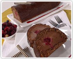 arrollado con chocolate y frambuesa