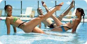 Pilates en el agua
