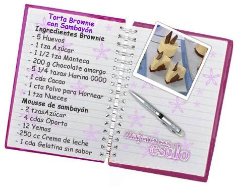 Torta Brownie con Mousse de Sambayón
