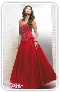 Vestido Novia Rojo