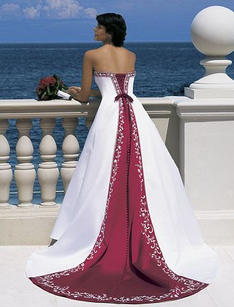 vestido novia rojo 01 Vestidos de novia rojos