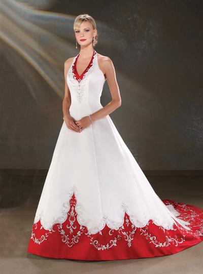 vestido novia rojo 021 Vestidos de novia rojos
