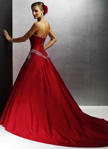 vestido novia rojo 03 Vestidos de novia rojos