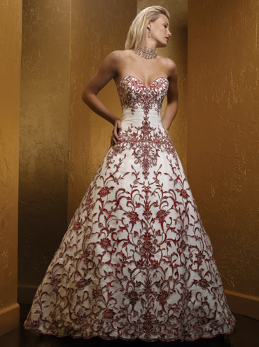 vestido novia rojo 04 Vestidos de novia rojos