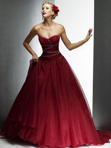 vestido novia rojo 05 Vestidos de novia rojos