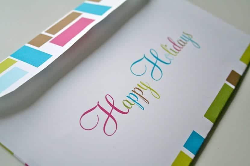 Sobre de colores para una carta