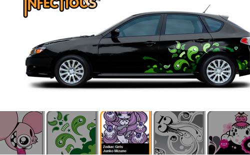 Pegatinas de autos imagui for Pegatinas para coches
