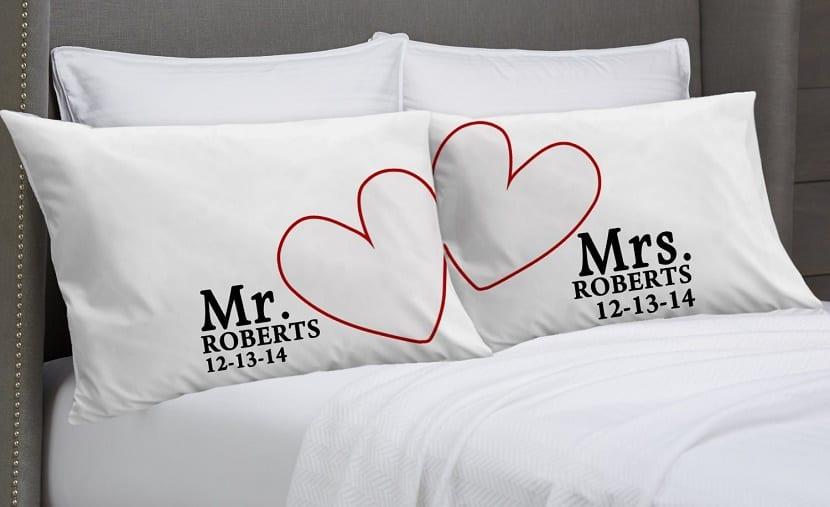 Cojines para parejas