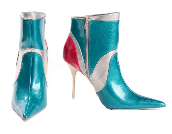botines multicolor metálicos