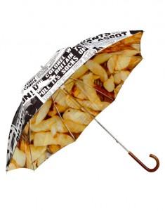 Paraguas cucurucho de patatas fritas