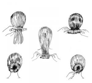 Pasos para obtener un peinado Chignon