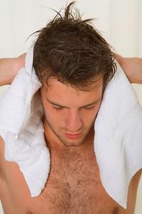 consejo para el secado del cabello de los hombres