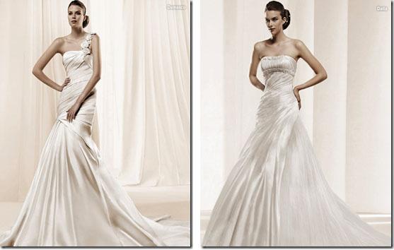 Vestidos de novia: Damasco y Dalia