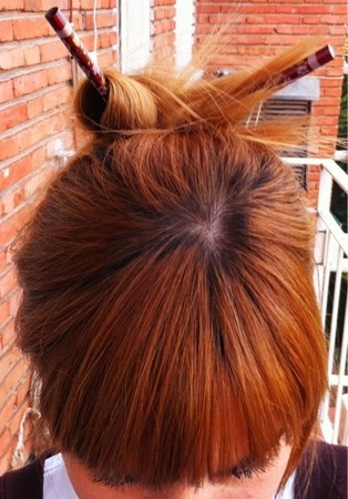 Recogido de pelo con palitos chinos