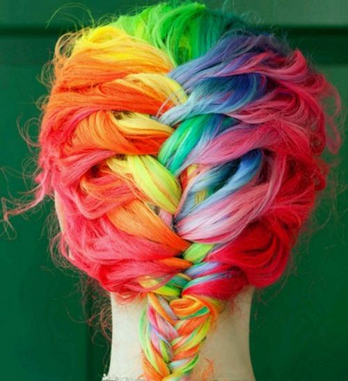 """""""peinado arcoiris"""""""