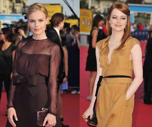 Maquillajes naturales en el Festival de Venecia: Kate Bosworth, Emma Stone, Bar Refaeli y Kate Winslet