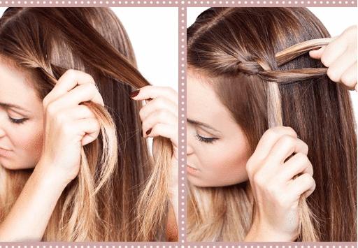 Peinados faciles con pelo suelto y trenzas