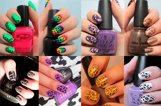 print animal mails Tendencias manicura verano 2012