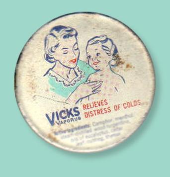 Envase de Vicks Vaporub antiguo