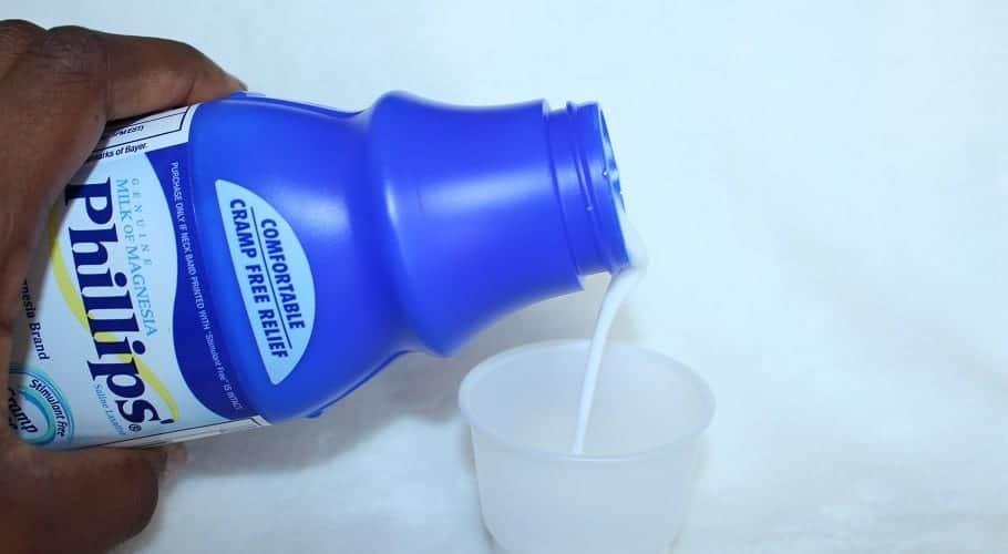Como tomar leche de magnesia