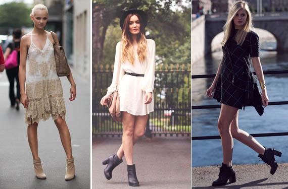 Imagenes de vestidos cortos con botines