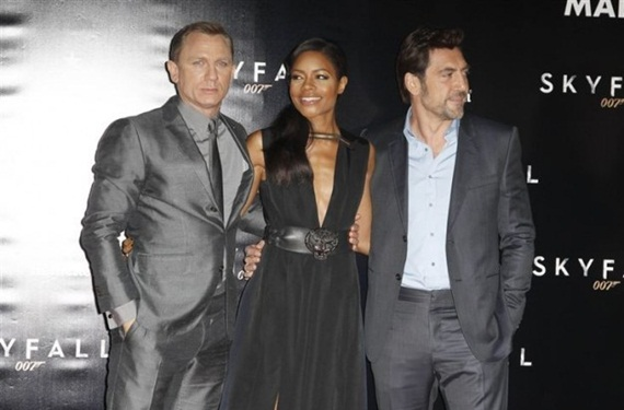 Javier Bardem, Daniel Craig y Naomi Harris