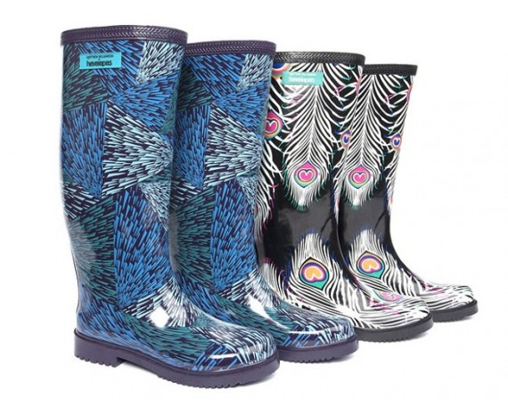 botas de lluvia de diseño