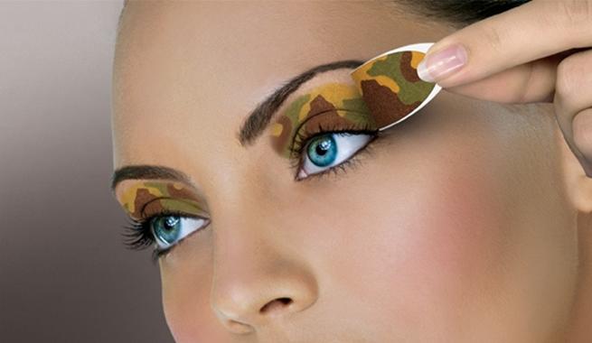 Parches maquillados camuflados