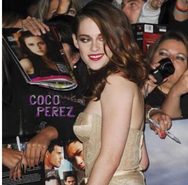 El look de Kristen Stewart en el estreno de la saga Crepúsculo: Breaking Dawn