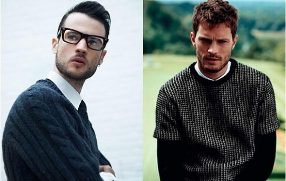Tendencias de moda hombre invierno 2013: suéteres y cardigan de manga corta