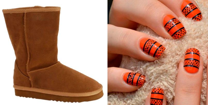 orange manicure 10 manicuras distintas para combinar con tus zapatos ...