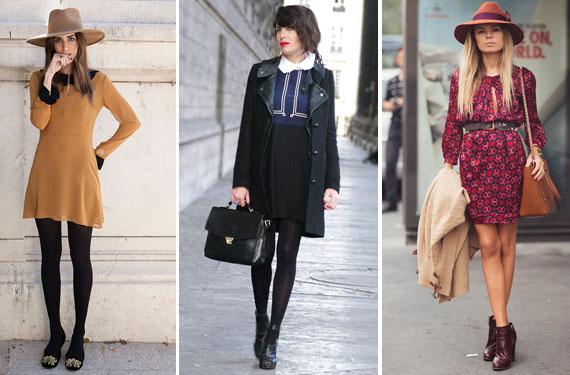 Como usar vestido en invierno