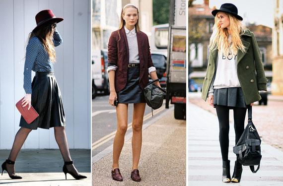 d0c899fc0 Opciones para combinar tu falda de cuero negra