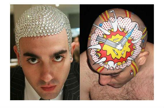 Philippe Levine usa su cabeza cómo lienzo