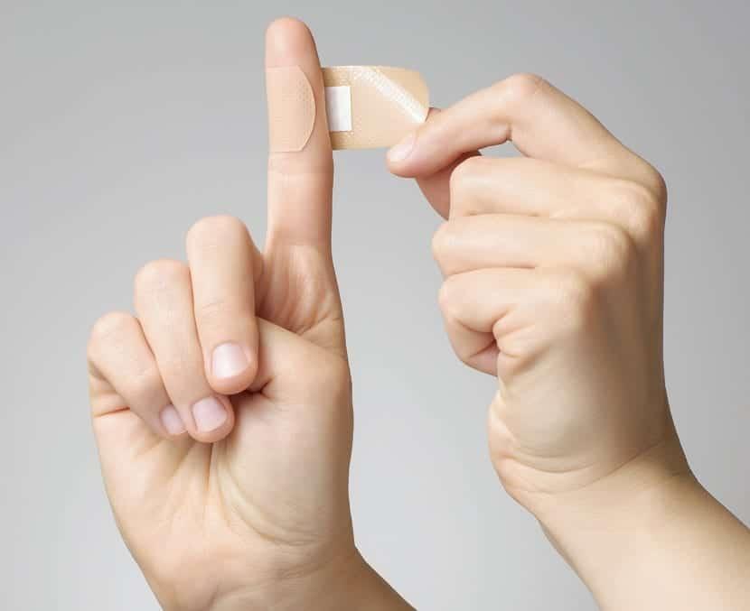 Herida en el dedo