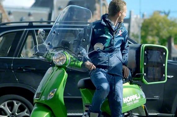compratimento moto taxi Hopper Scooter