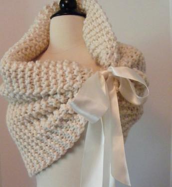 capa de novia de lana