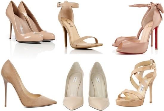 Zapatos Elegantes Color Nude