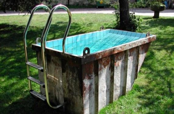 Contenedores convertidos en piscinas
