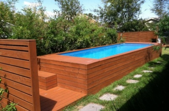 Contenedores de basura convertidos en piscina qu locura - Piscina container ...