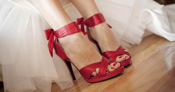 sandalias de boda rojas