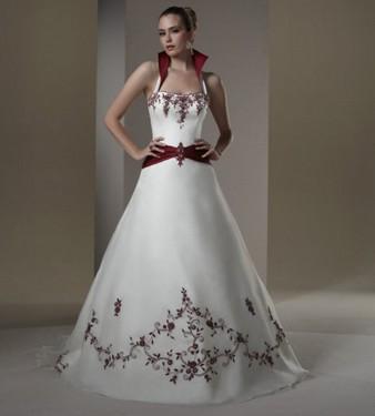 vestido de novia rojo y blanco 2