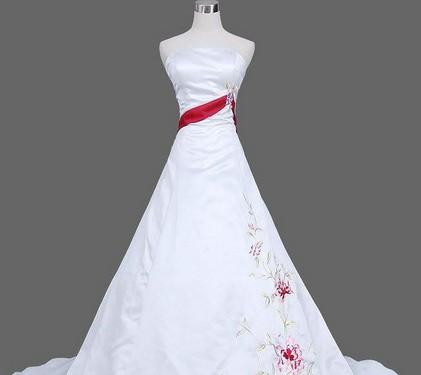 vestido de novia rojo y blanco 3