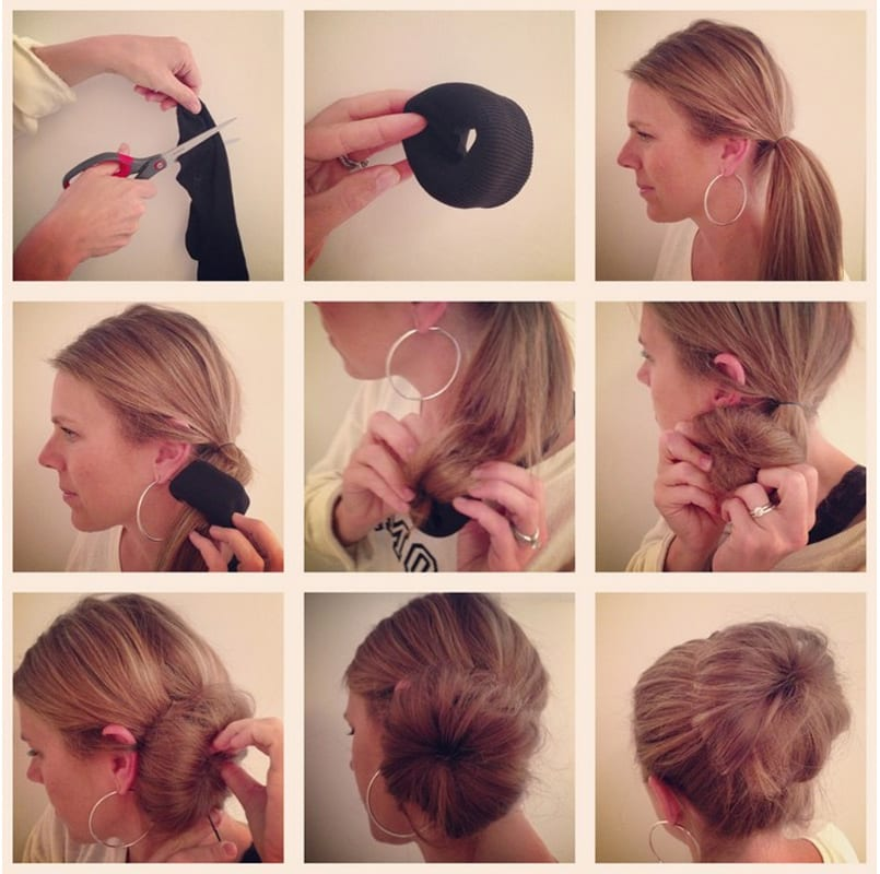 hair in a ballet bun images collection