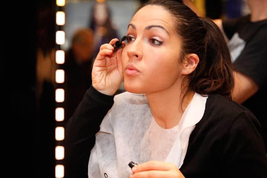 Taller de automaquillaje de Chanel, estrenando su colección de Navidad Nuit Infinie