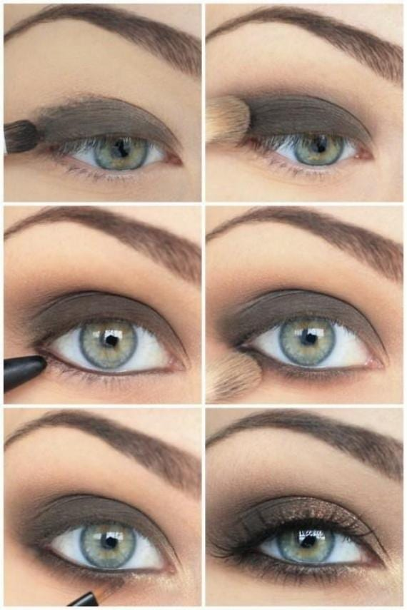 look ahumado ojos