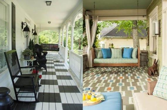 Suelo pintado porches