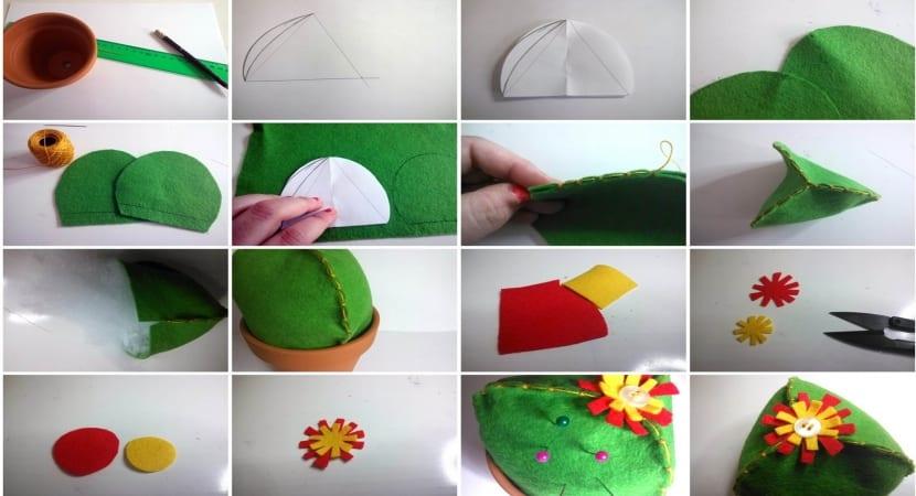 Alfiletero DIY en forma de cactus