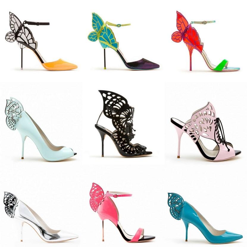 Zapatos con mariposas