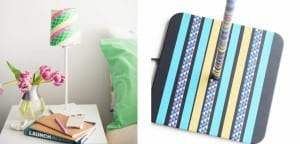 DIY en lamparas con Washi tape